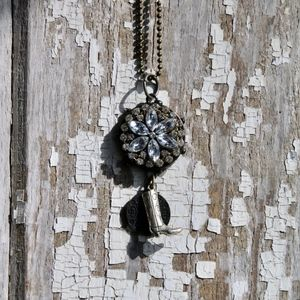 Bling/boot pendant necklace
